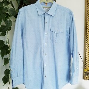Tommy Bahamas Mens Eyelit Button Down Shirt S